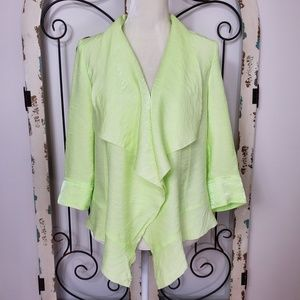 Chico's shimmery lime cardigan size 0 (small)